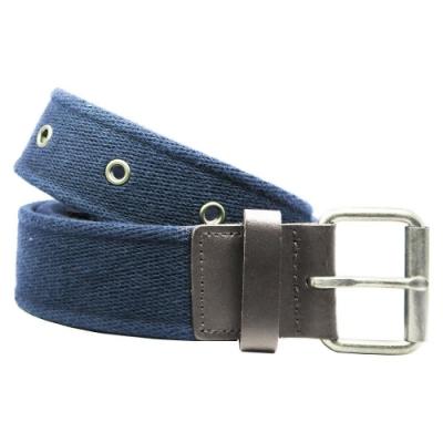 CH-BELT個性鉚釘造型棉織腰帶皮帶(藍)