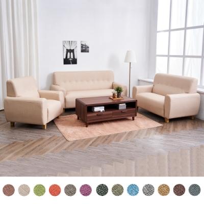 時尚屋  喬迪1+2+3人座獨立筒貓抓皮沙發(共13色)