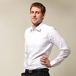 【金安德森】白色舒適窄版長袖襯衫