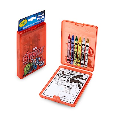 美國crayola 繪兒樂 隨行蠟筆著色套裝-復仇者聯盟(3Y+)