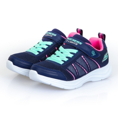 SKECHERS 女童系列 GLIMMER KICKS 燈鞋 - 302302LNVY
