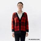 H UNDERSCORE 全新潮牌 女裝 - 復古格紋毛衣外套 - 紅色