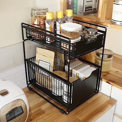 [時時樂限定] AOTTO 多功能廚房浴室抽屜置物架 收納架(下水槽收納架 置物架)