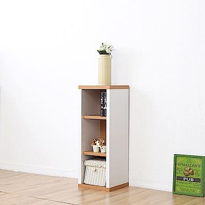 《Accessco》日系雙色三格厚板收納書櫃(33x30x90cm)