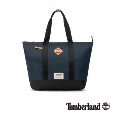 Timberland 中性深寶石藍色拼接托特包|A2FN5
