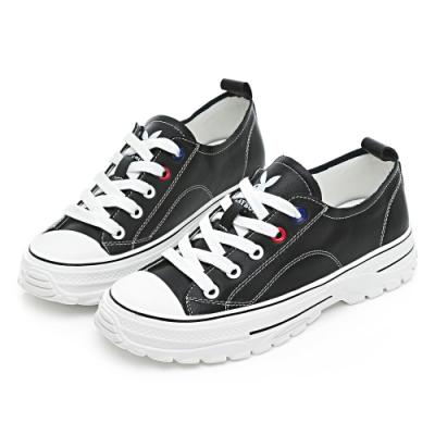 PLAYBOY 柔軟升級 新古典復刻休閒鞋-黑-Y6807CC