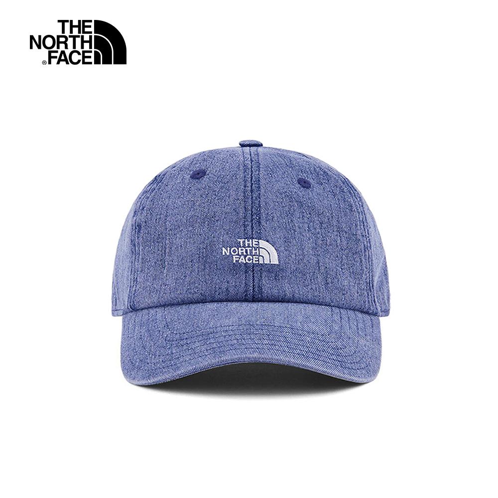 The North Face北面男女款藍色遮陽運動帽 3FKNBV6