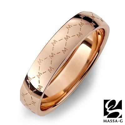 DECO X MASSA-G【M. Class】M04 經典純鈦戒指-玫瑰金