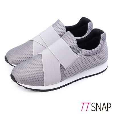 TTSNAP運動鞋-MIT超輕量透氣耐震慢跑鞋 灰