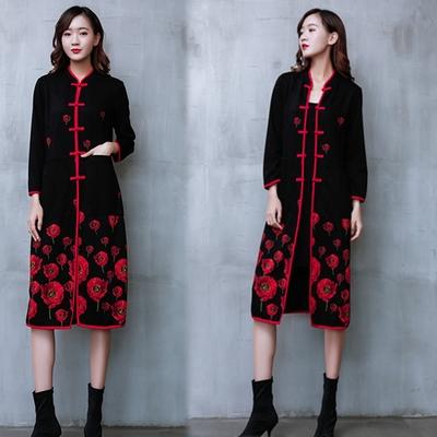 【韓國K.W.】印花中國風立領帥氣外套