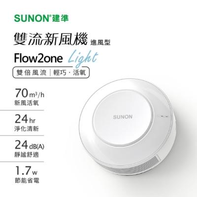 SUNON建準 Flow2one Light 雙流新風機進風型補氧機 F-AHR10T00