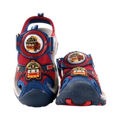男童POLI授權羅伊款護趾防撞閃燈運動涼鞋 sa01132 魔法Baby