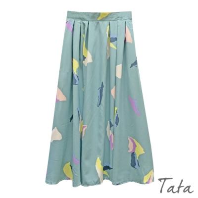 拼色印花半身裙 TATA-F
