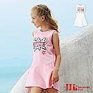 JJLKIDS FIVE英文印花無袖洋裝(2色)