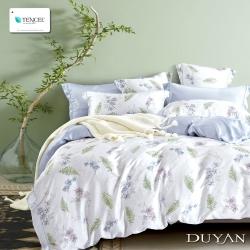 DUYAN竹漾-100%頂級萊塞爾天絲-雙人四件式舖棉兩用被床包組-微醺香榭