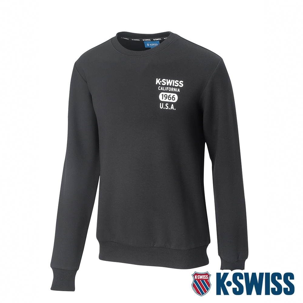 K-SWISS 1966 Sweatshirt圓領長袖上衣-女-黑