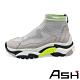 ASH-ADDICT STRETCH高筒針織撞色增高襪套老爹鞋-灰 product thumbnail 1