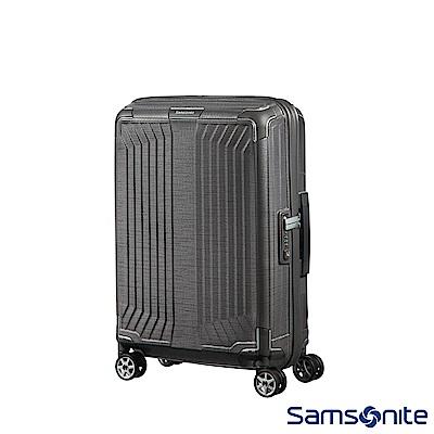 Samsonite新秀麗 20吋Lite-Box耐衝擊Curv垂直線條登機箱 碳灰