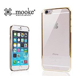 Mooke iPhone 6 Plus(5.5) 電鍍隱形保護殼-香檳金