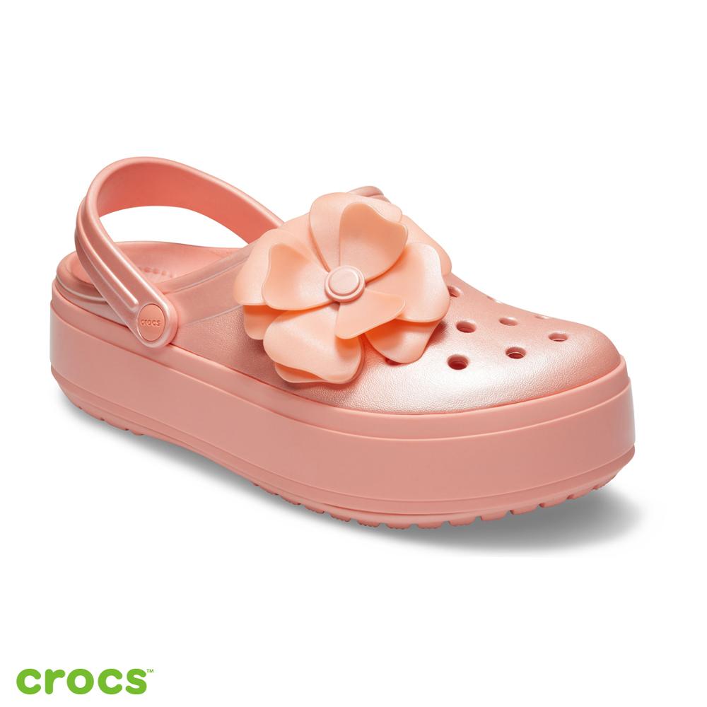 Crocs 卡駱馳 (中性鞋) 立體花朵厚底卡駱班 205746-737