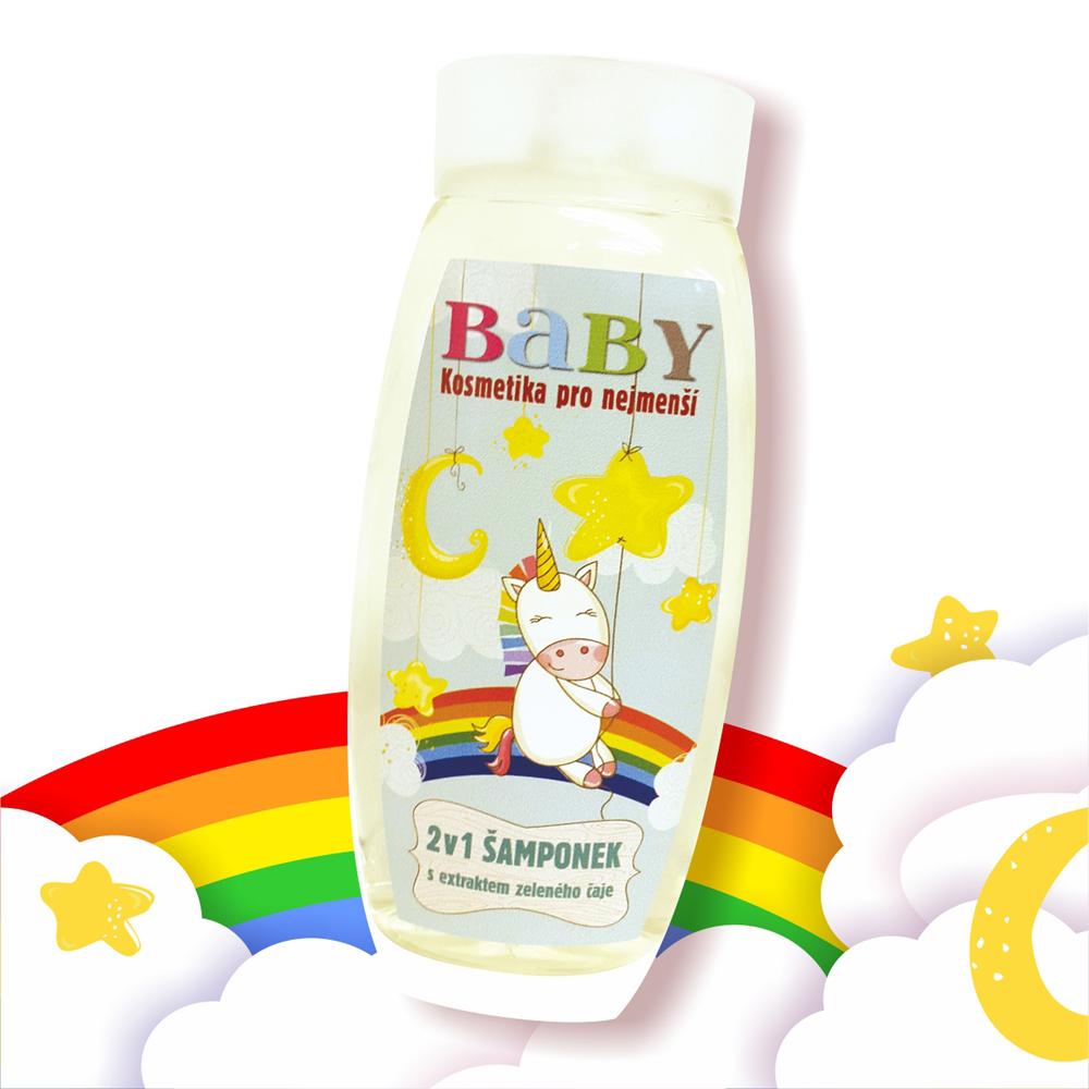捷克波西米亞禮讚嬰幼兒兒童洗髮洗澡兩用沐浴露-彩虹小馬 250ml