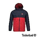 Timberland 男款紅藍色拼接戶外休閒連帽外套|A1OM2S61