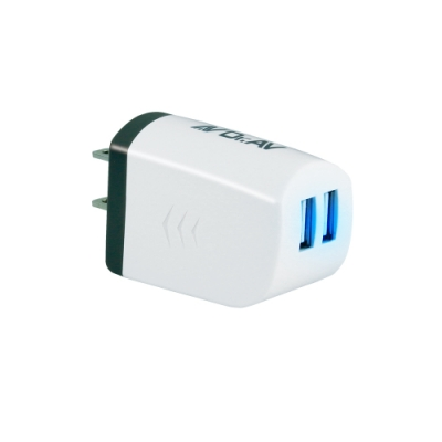 【Dr.AV】USB-504 USB極速充電器(2入組)