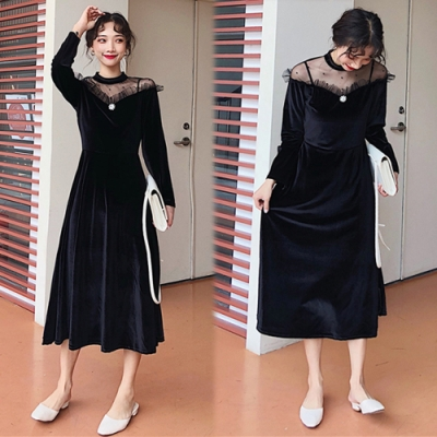 【韓國K.W.】氣質魅力小性感修身洋裝-1色