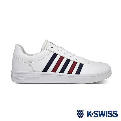 K-SWISS Court Cheswick S休閒運動鞋-女-白/藍/紅