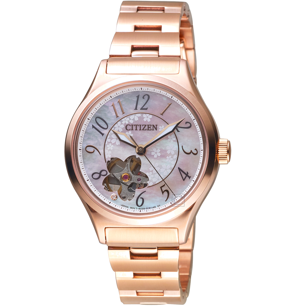CITIZEN 星辰 春季櫻花限定機械腕錶(PC1007-65D) @ Y!購物