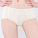 思薇爾 牛奶紗系列M-XL素面中低腰平口內褲(清澈黃)