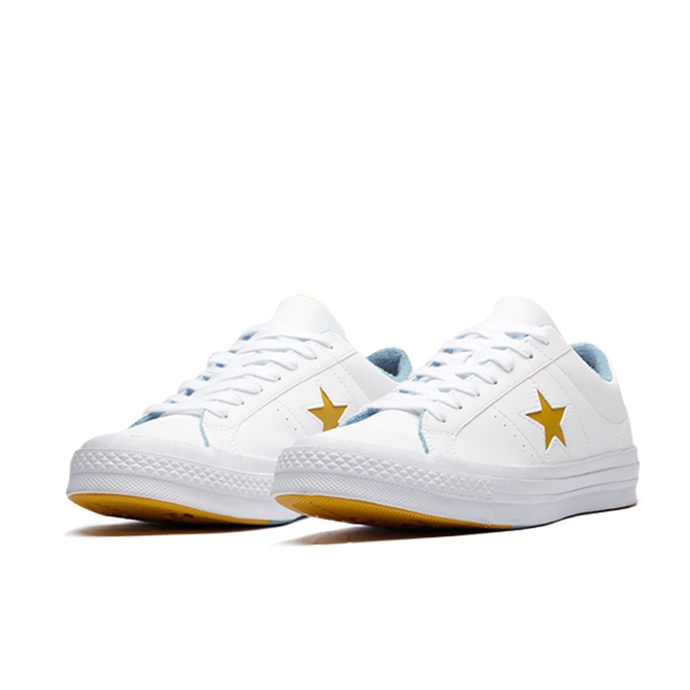 CONVERSE ONE STAR OX-白 男休閒鞋