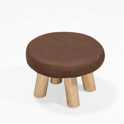 H&D 亞蓓咖啡色圓凳
