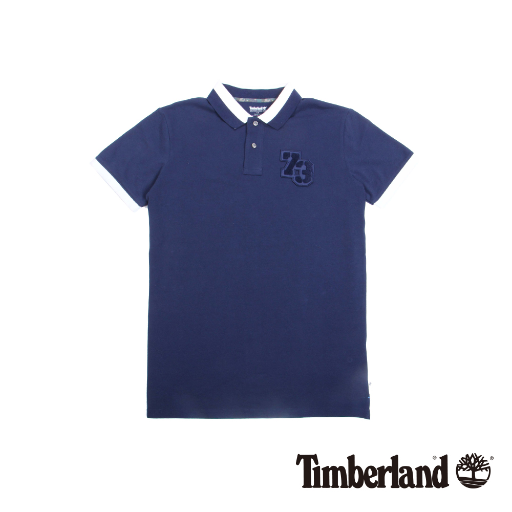 Timberland 男款航海藍Millers RiverPolo衫|A1LZ1
