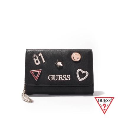 GUESS-女夾-逗趣時尚造型卡夾-黑