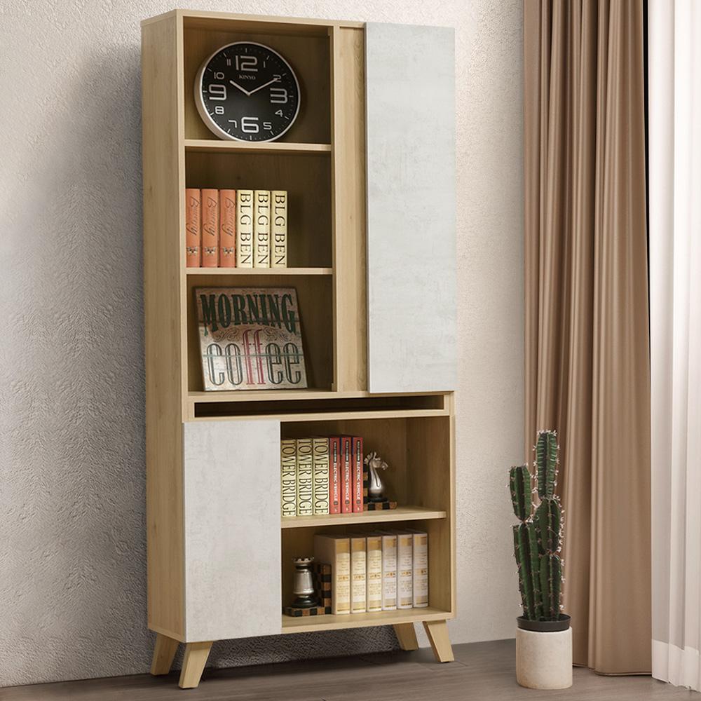 Homelike 蜜雪兒2.7尺書櫃-80x32x181cm-免組裝