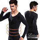 男性保暖塑身衣 收腰緊身塑腹長袖(黑色) LOTUS