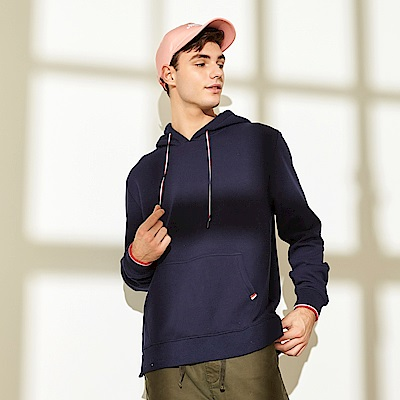 CACO-質感配色帽繩帽T-(兩色)-男【QAR087】