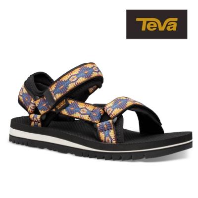 TEVA 原廠貨 女 Universal Trail 多功能經典運動涼鞋/雨鞋/水鞋-CTC峽谷圖騰藍橘