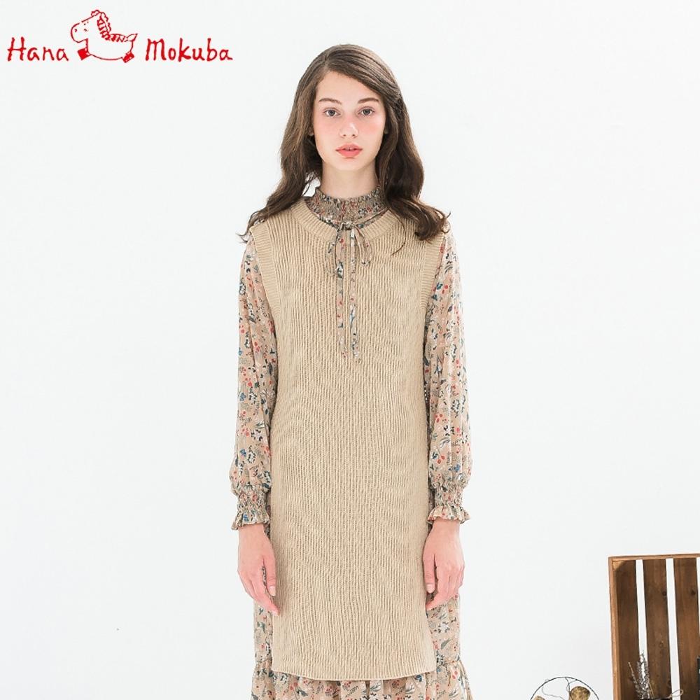 Hana-Mokuba-花木馬日系女裝針織連衣裙_米黃