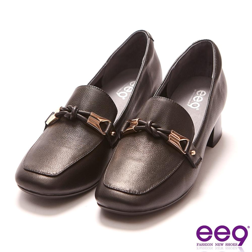 ee9 通勤私藏飾環點綴粗跟包鞋 黑色-583498  10