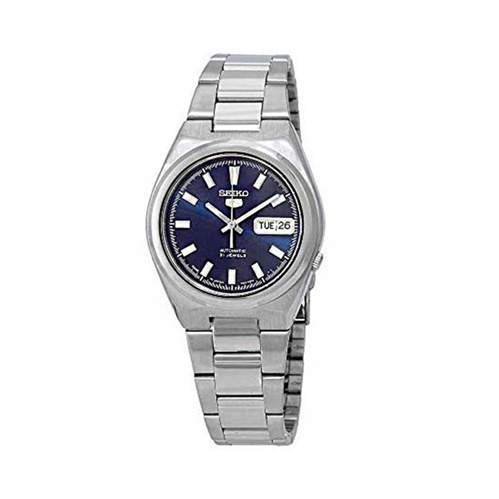 【SEIKO】時尚藍面自動上鏈男士機械錶-SNKC51J1