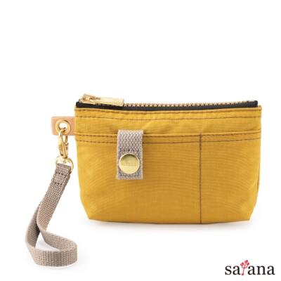 satana - Soldier 實用拉鍊化妝包/零錢包 - 古金黃