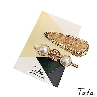 水鑽珍珠髮夾(2入) TATA