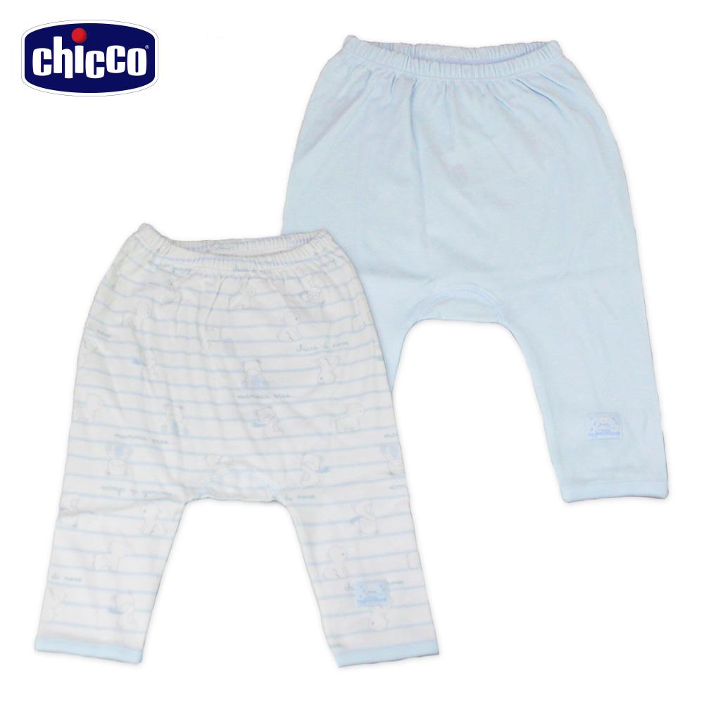 chicco-印花初生褲2入-藍(3-6個月)