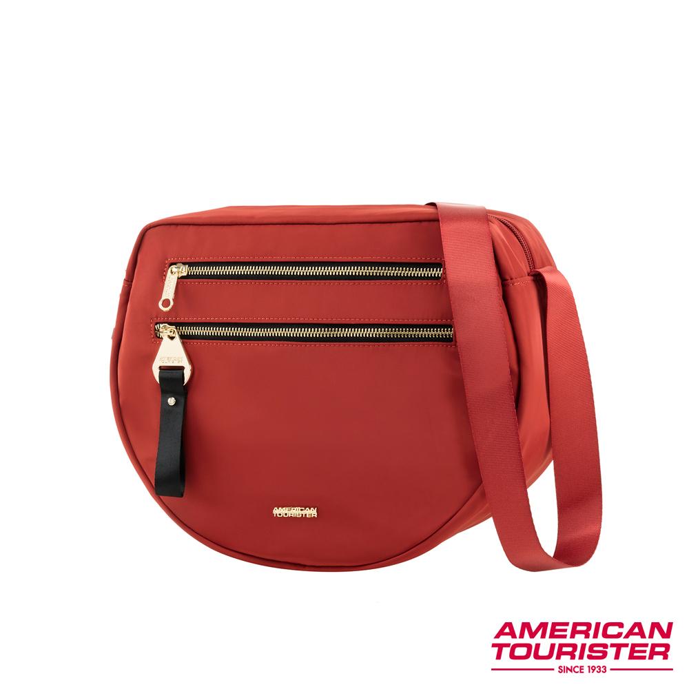 AT美國旅行者 Alizee IV輕巧分層收納造型斜背包(紅)