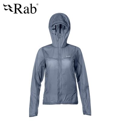 【英國 RAB】Vital Windshell Hoody Woman 輕量防風防潑水連帽外套 女款 影灰 #QWS40