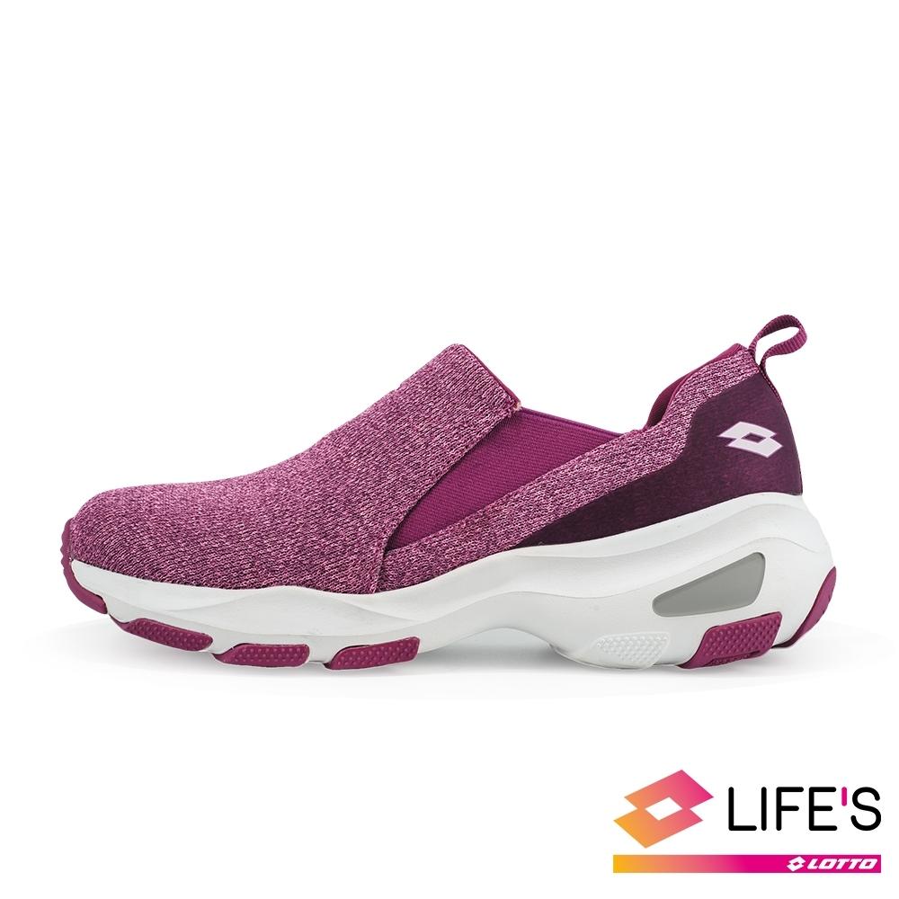 LOTTO 義大利 女 EASY WEAR 厚底美型輕便鞋 (紫)