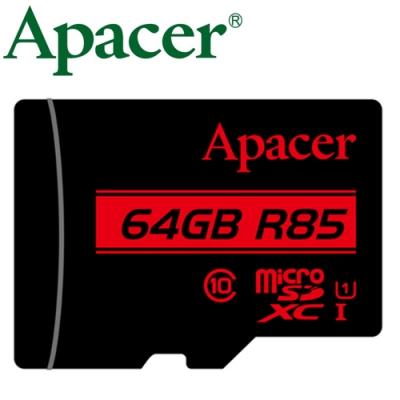 Apacer 宇瞻 64GB 85MB/ s microSDXC U1 記憶卡