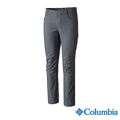 Columbia 哥倫比亞 男款-UPF50防潑長褲深-灰